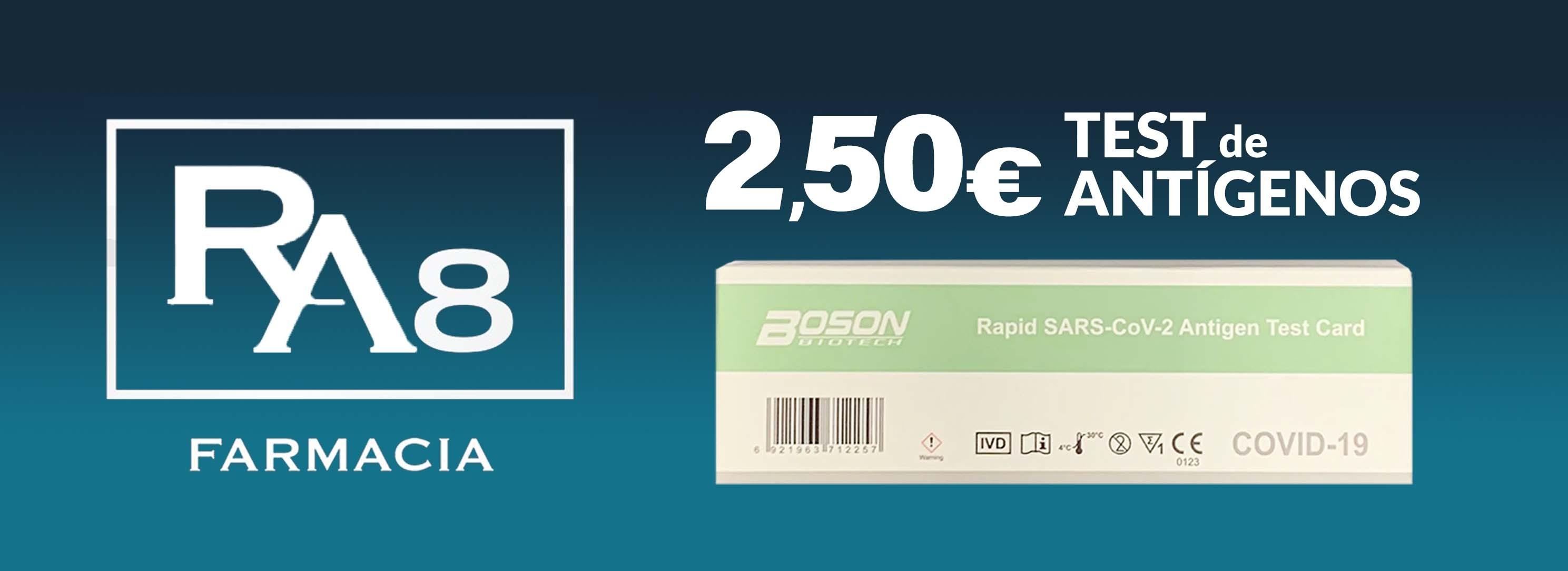 Test de Antígenos COVID 19 por 2,5€
